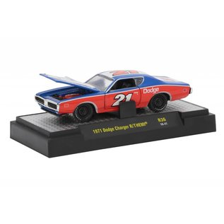 M2 Machines M2 Machines 1971 Dodge Charger R/T Hemi Red White And Blue Mopar Garage Detroit Muscle Series Release 36 1:64 Scale Diecast Model Car
