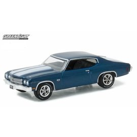 Greenlight Collectibles Greenlight 1970 Chevrolet Chevelle SS Blue Trade Show Exclusive 1:64 Scale Diecast Model Car