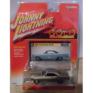Johnny Lightning Johnny Lightning 1967 Ford Fairlane 500 XL Gold Classic Gold 2016 Series 1:64 Scale Diecast Model Car
