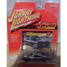 Johnny Lightning Johnny Lightning 1965 Pontiac Catalina 2+2 Purple Classic Gold 2016 Series 1:64 Scale Diecast Model Car
