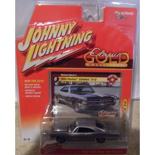 Johnny Lightning Johnny Lightning 1965 Pontiac Catalina 2+2 Purple Classic Gold 2016 Series 1:64 Scale Diecast Model Car