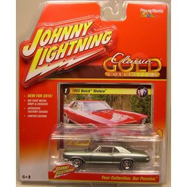 Johnny Lightning Johnny Lightning 1965 Buick Riviera Light Green Classic Gold 2016 Series 1:64 Scale Diecast Model Car