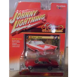 Johnny Lightning Johnny Lightning 1965 Buick Riviera Red Classic Gold 2016 Series 1:64 Scale Diecast Model Car
