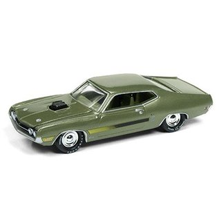 Johnny Lightning Johnny Lightning 1970 Ford Torino GT Green Muscle Cars USA 2017 Series Release 1 1:64 Scale Diecast Model Car
