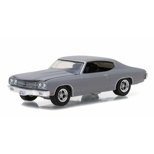 Greenlight Collectibles Greenlight 1970 Chevrolet Chevelle SS Gray GL Muscle Series 17 1:64 Scale Diecast Model Car