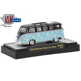 M2 Machines M2 Machines 1959 VW Microbus Deluxe USA Model MiJo Exclusive Blue 1:64 Scale Diecast Model Car