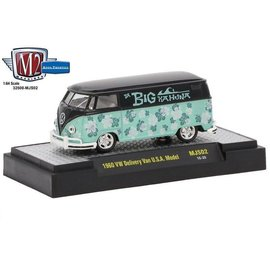 M2 Machines M2 Machines 1960 VW Delivery Van USA Model Big Kahuna MiJo Exclusive Green 1:64 Scale Diecast Model Car