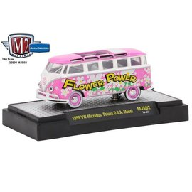 M2 Machines M2 Machines 1959 VW Microbus USA Model Pink MiJo Exclusive 1:64 Scale Diecast Model Car