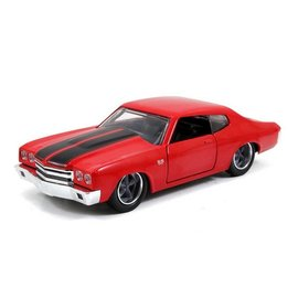 Jada Toys Jada Fast & Furious Dom's Chevy Chevelle SS Red 1:24 Scale Diecast Model Car