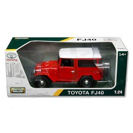 Motor Max Toyota FJ40 Red Motor Max 1:24 Scale Diecast Model Car