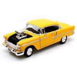 Motor Max Motor Max 1955 Chevy Bel Air Yellow Custom Classics 1:18 Scale Diecast Model Car