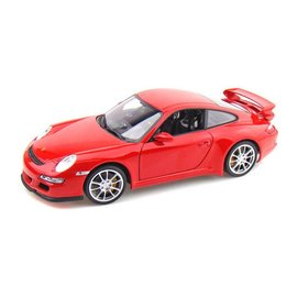 Welly Die Casting Porsche 911 GT3 997 Red Welly 1:18 Scale Diecast Model Car