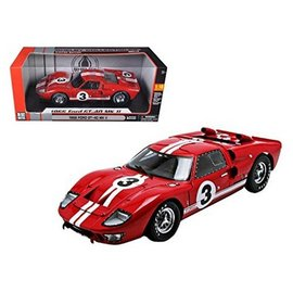 Carroll Shelby Collectibles CSC 1966 Ford GT-40 MK II #3 Red 1:18 Scale Diecast Model Car