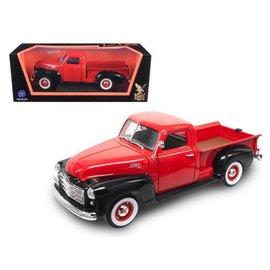 Road Signature Road Signature 1950 GMC Pickup Red And Black 1:18 Scale Diecast Model Car