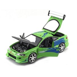 Jada Toys Jada Toys Brian's Mitsubishi Eclipse Green Fast & Furious 1:24 Scale Diecast Model Car