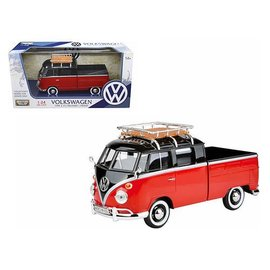 Motor Max Motor Max Volkswagen Type 2 (T1) Pickup Red And Black 1:24 Scale Diecast Model Car
