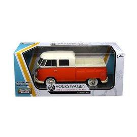 Motor Max Motor Max Volkswagen Type 2 (T1) Pickup Orange And Cream 1:24 Scale Diecast Model Car