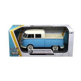 Motor Max Motor Max Volkswagen Type 2 (T1) Pickup Cream And Light Blue 1:24 Scale Diecast Model Car