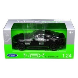 Welly Die Casting Welly 2015 Ford Mustang GT Black 1:24 Scale Diecast Model Car