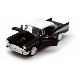 Motor Max Motor Max 1957 Chevy Bel Air Black 1:24 Scale Diecast Model Car
