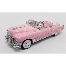Motor City Classics Elvis Presley 1949 Cadillac Coupe DeVille Convertible Pink 1:18 Scale Diecast Model Car
