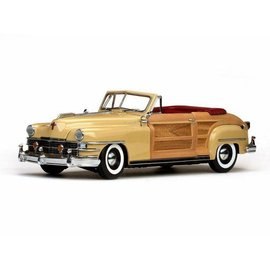 Sun Star Sun Star 1948 Chrysler Town & Country Convertible Yellow Lustre 1:18 Scale Diecast Model Car