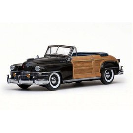 Sun Star Sun Star 1948 Town And Country Convertible Gunmetal Gray 1:18 Scale Diecast Model Car