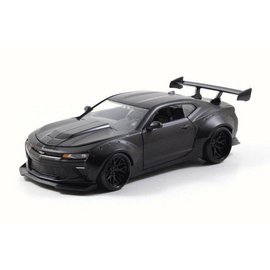 Jada Toys Jada Toys 2016 Chevy Camaro SS Widebody Matt Black 1:24 Scale Diecast Model Car