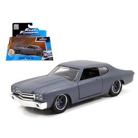 Jada Toys Jada Toys Dom's Chevy Chevelle SS Primer Gray Fast & Furious 1:24 Scale Diecast Model Car