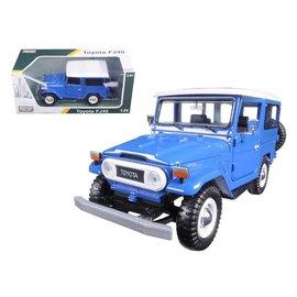 Motor Max Motor Max Toyota FJ40 Land Cruiser Blue 1:24 Scale Diecast Model Car