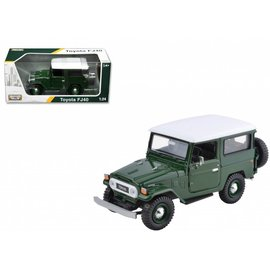 Motor Max Motor Max Toyota FJ40 Land Cruiser Green 1:24 Scale Diecast Model Car