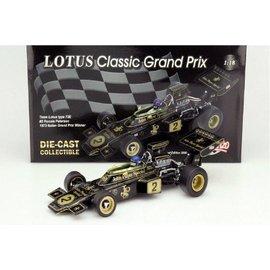 Quartzo Classic Grand Prix Team Lotus Type 72E #2 Ronnie Peterson 1973 Italian Grand Prix Winner 1:18 Scale Diecast Model Car