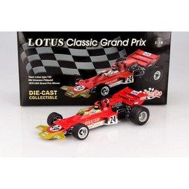 Quartzo Team Lotus Type 72C #24 Emerson Fittipaldi 1970 USA Grand Prix Winner 1:18 Scale Diecast Model Car