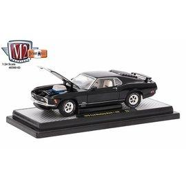 M2 Machines M2 Machines 1970 Ford Mustang Mach 1 428 Black 1:24 Scale Diecast Model Car