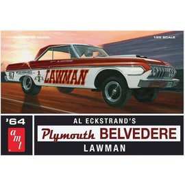 AMT AMT 1964 Plymouth Belvedere Super Stock Featuring Al Eckstrand's Lawman Racing Version 1:25 Scale Plastic Model Kit