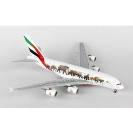 Gemini Jets Gemini Jets Emirates Airbus A380-800 United For Wildlife 1:400 Scale Diecast Model Airplane