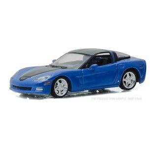 Greenlight Collectibles Greenlight 2012 Chevrolet Corvette Coupe Blue GM Collection Series 1 1:64 Scale Diecast Model Car