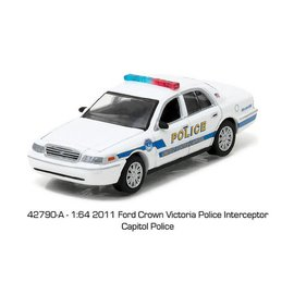 Greenlight Collectibles Greenlight 2011 Ford Crown Victoria Police Interceptor Capital Police Hot Pursuit Series 22 1:64 Scale Diecast Model Car