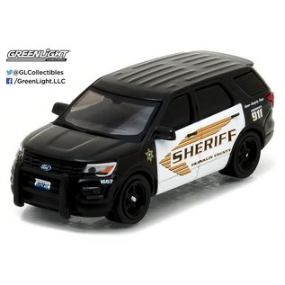 Greenlight Collectibles Greenlight 2016 Ford Police Interceptor Utility Explorer Franklin County Police Hot Pursuit Series 22 1:64 Scale Diecast Model Car