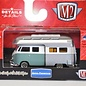 M2 Machines M2 Machines 1959 VW Double Cab Truck Camper USA Model Teal And Silver 1:64 Scale Diecast Model Car
