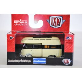 M2 Machines M2 Machines 1959 VW Double Cab Truck Camper USA Model Yellow 1:64 Scale Diecast Model Car