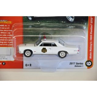 Johnny Lightning Johnny Lightning Blake Rainey's 1965 Pontiac GTO White Classic Gold 2017 Series Release 1 1:64 Scale Diecast Model Car