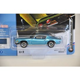 Johnny Lightning Johnny Lightning 1970 Chevy Camaro Z28 Blue Muscle Cars USA 2017 Series Release 1 1:64 Scale Diecast Model Car