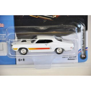 Johnny Lightning Johnny Lightning 1970 Ford Torino GT White Muscle Cars USA 2017 Series Release 1 1:64 Scale Diecast Model Car