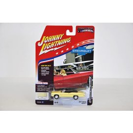 Johnny Lightning Johnny Lightning 1968 Chevy Impala Convertible Yellow Muscle Cars USA 2017 Series Release 1 1:64 Scale Diecast Model Car