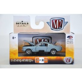 M2 Machines M2 Machines 1965 Ford Mustang Fastback 2+2 200 Light Blue Detroit Muscle Release 37 1:64 Scale Diecast Model Car