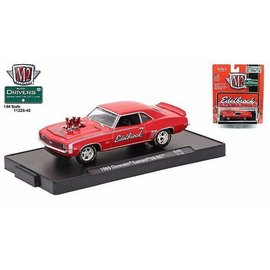 M2 Machines M2 Machines 1969 Chevrolet Camaro SS/RS Red Edelbrock Auto Drivers Release 40 1:64 Scale Diecast Model Car