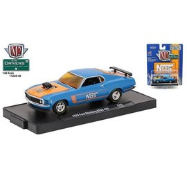 M2 Machines M2 Machines 1970 Ford Mustang Boss 429 Blue NOS Auto Drivers Release 40 1:64 Scale Diecast Model Car