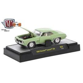 M2 Machines M2 Machines 1969 Chevrolet Camaro 250 Light Green Detroit Muscle Release 37 1:64 Scale Diecast Model Car