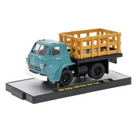 M2 Machines M2 Machines 1966 Dodge L600 Stake Bed Truck Aqua Auto Trucks Series Release 42 1:64 Scale Diecast Model Car